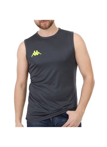 Kappa Player Kolsuz T-Shirt Abrız Pro4  Füme